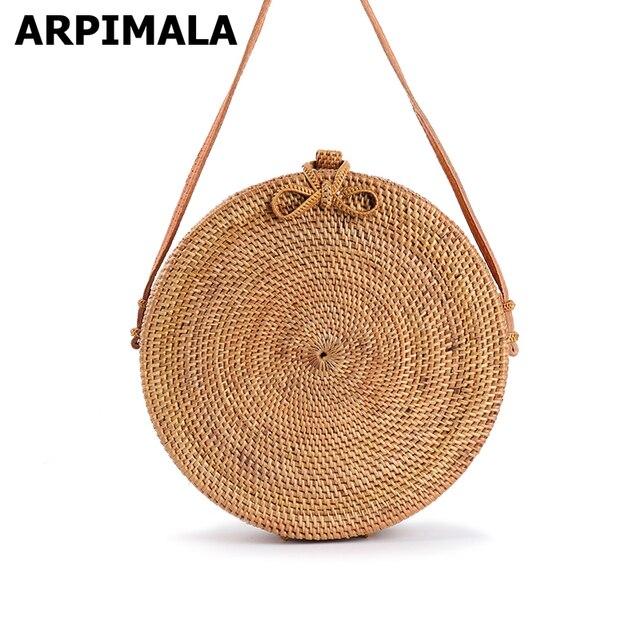 acheter arpimala 2017 bali cercle paille sacs pour femmes rond fait main sac de. Black Bedroom Furniture Sets. Home Design Ideas