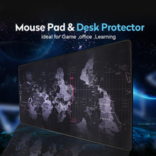 Gaming Mouse Pad Computer Mousepad Large Mouse Pad Gamer Anti-slip Natural Rubber Surface World Map Big Mouse Mat Desk Mat Game(China)