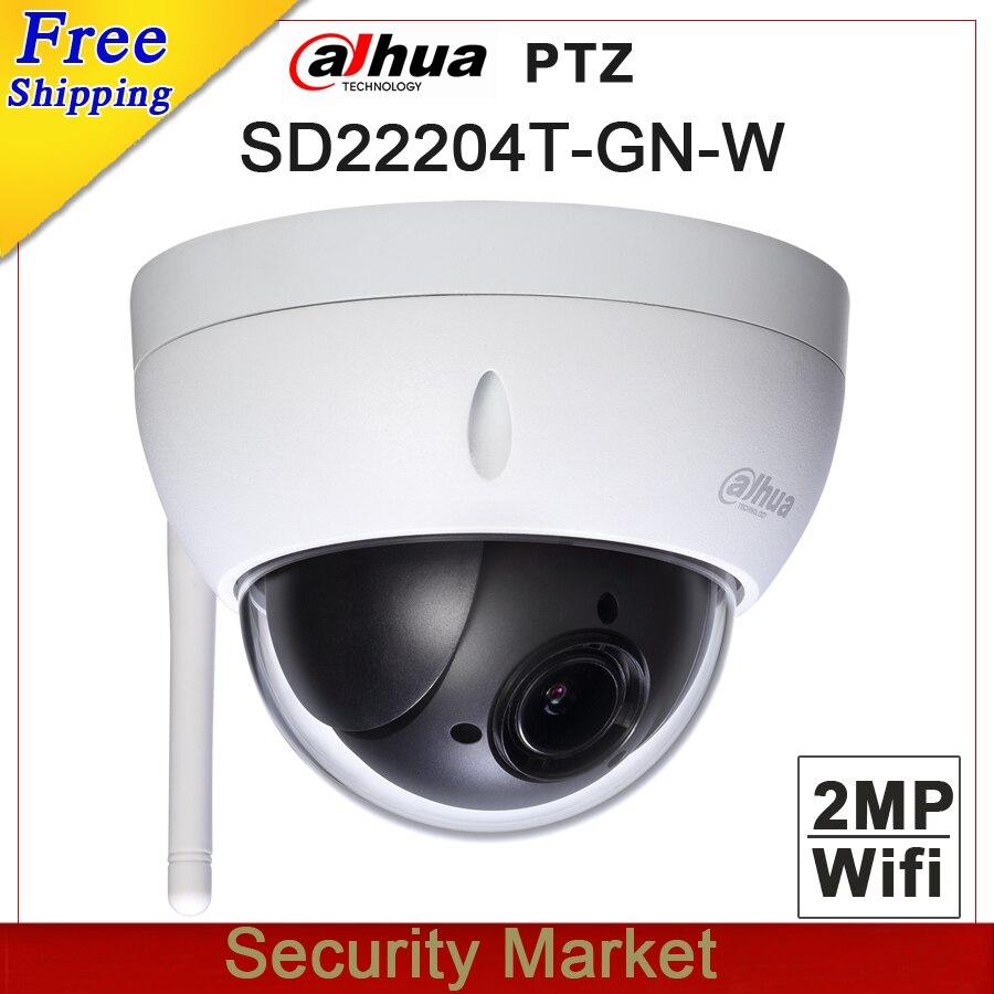 Original dahua english DH SD22204T GN W with logo WiFI IP 2MP Network Mini PTZ Dome