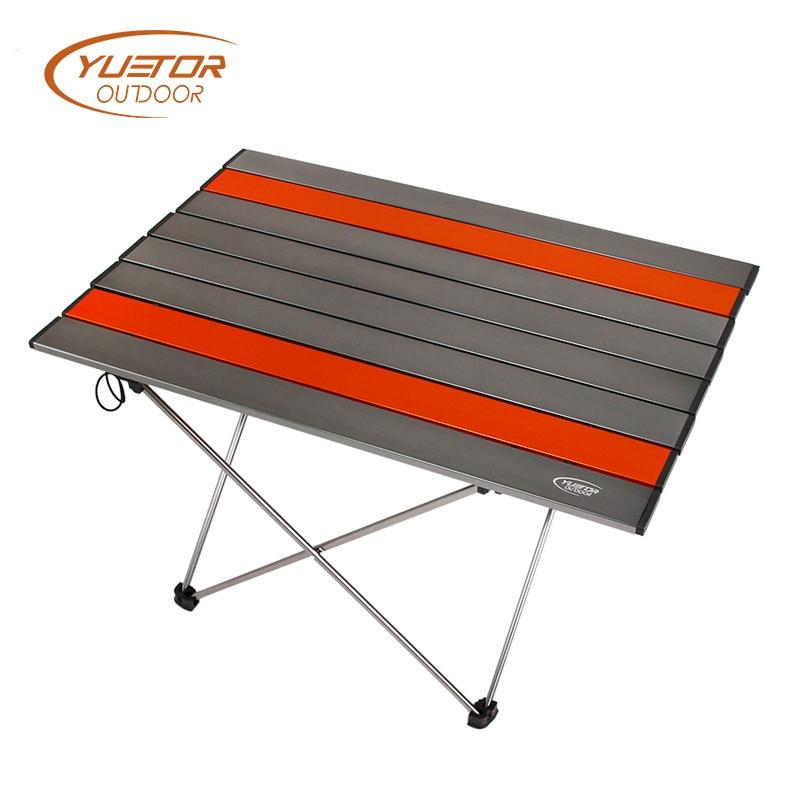 Table de camping en plein air table de jambe en alliage d'aluminium portable table de Camping pliante table de pique-nique table de camping mobilier d'extérieur