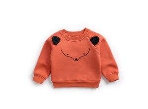 Image 2 - Sudaderas con capucha para niño y niña, ropa con capucha para bebé, camisetas de manga larga con forro polar de Animal, ropa para niño, blusa infantil