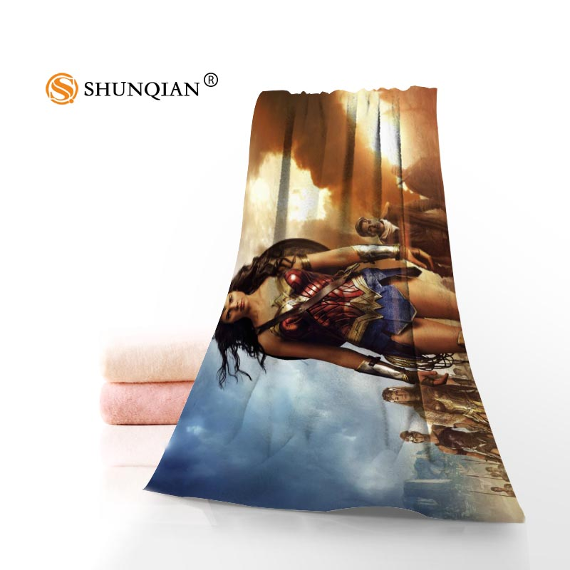 New Custom Wonder Woman Towel Printed Cotton Face/Bath Towels Microfiber Fabric For Kids Men Women Shower Towels