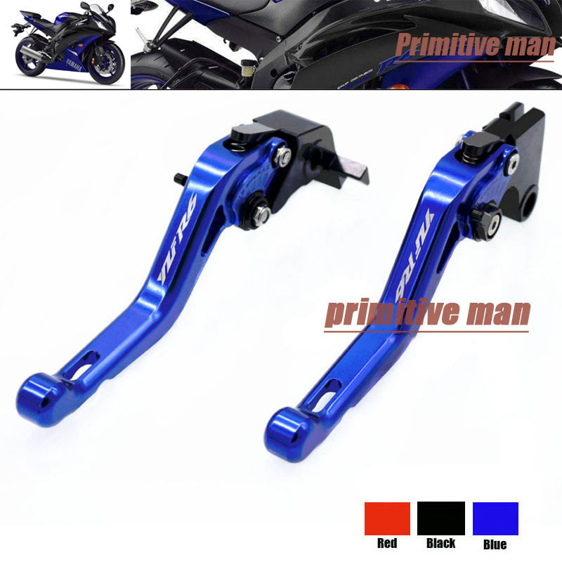 For YAMAHA YZF R6 YZFR6 YZF-R6 2006-2014 Motorcycle Accessories Short Brake Clutch Levers LOGO YZF R6 Blue aftermarket free shipping motorcycle parts eliminator tidy tail fit for 2006 2012 yzf r6 yzf r6 yzfr6