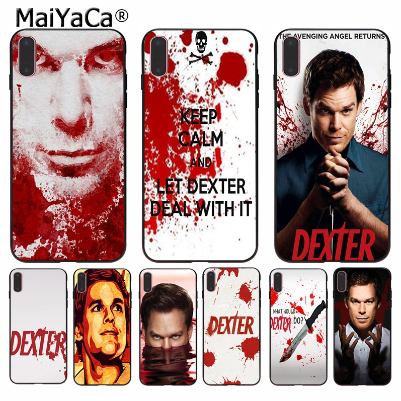 MaiYaCa Dexter Keep Calm and Let Dexter Deal Soft Shell Phone Case for Apple iPhone 8 7 6 6S Plus X XS MAX 5 5S SE XR Cellphones image