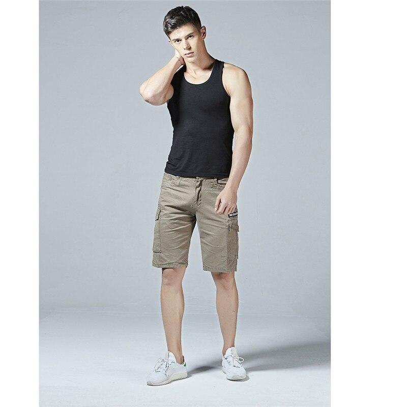 FUMUD Fashion Trend Brand Shorts Summer Cotton Casual Bermuda Masculina Comfortable Casual Cargo Mens Work Male Shorts