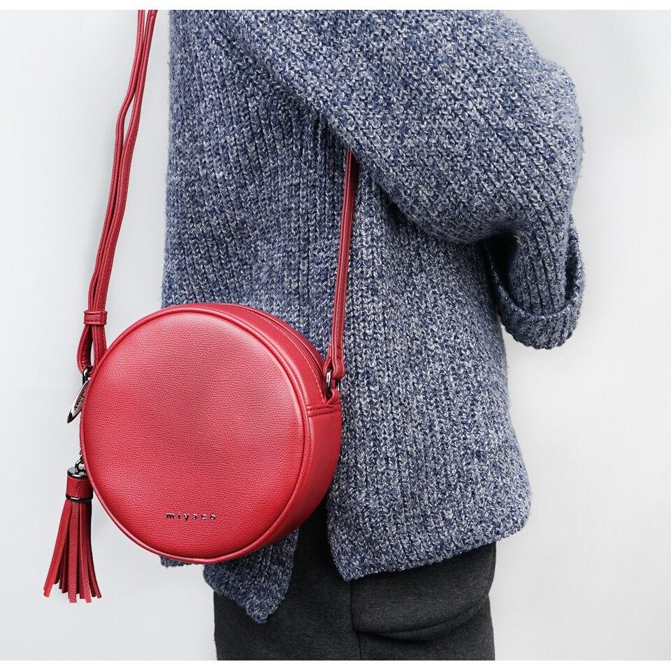 Sac À Bandoulière Rond Fashion Rouge