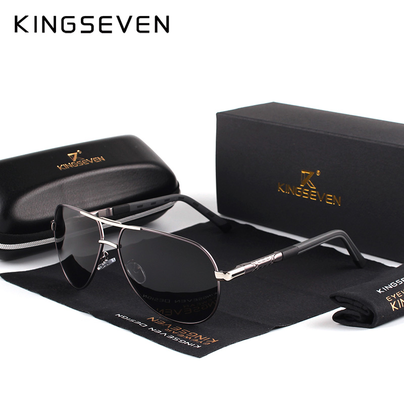 7-Day Delivery KINGSEVEN Vintage Aluminum Polarized Sunglasses Brand Sun glasses Coating Lens Driving EyewearFor Men/Wome N725 9