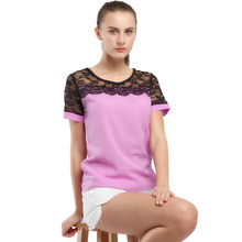 Women Blouses Summer Lace Chiffon Blouse Casual