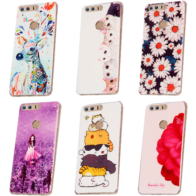 newest a8690 6f680 US $1.97 34% OFF|Huawei honor 8 Case Cover Silicone,Cute Cover Case For  Huawei honor 8 Phone Case Cover TPU Soft Back Case honor8 100% BiNFUL-in ...