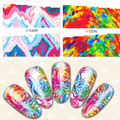 Nail Art Water Decals Color Painting Nail Tips Beauty Decorations Sheet on Fingers Water Transfer Nail Art Tattoo 8217859