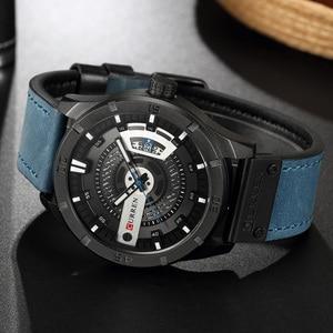Image 3 - Relogio Masculino CURREN Watch Men Waterproof Calendar Sport Military Male Clock Top Brand Luxury 3D Dial Man Wristwatch 8301