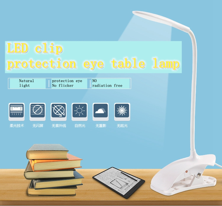 Led reading eye protection desk lamp with Clip Eye Protection Desk Lamp Light Table Lamps free Bent Foldable USB table lights