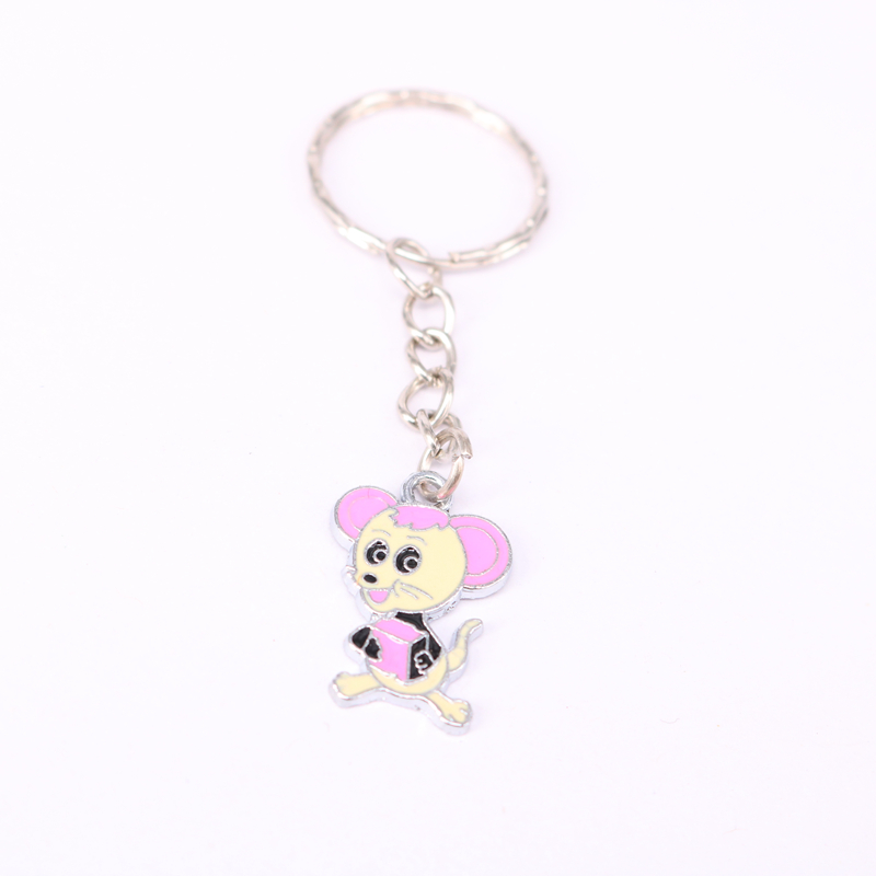 1Pcs Mouse Charm Keychain For Keys Car Key Ring Souvenir Gifts Jewelry Accessories  KC48
