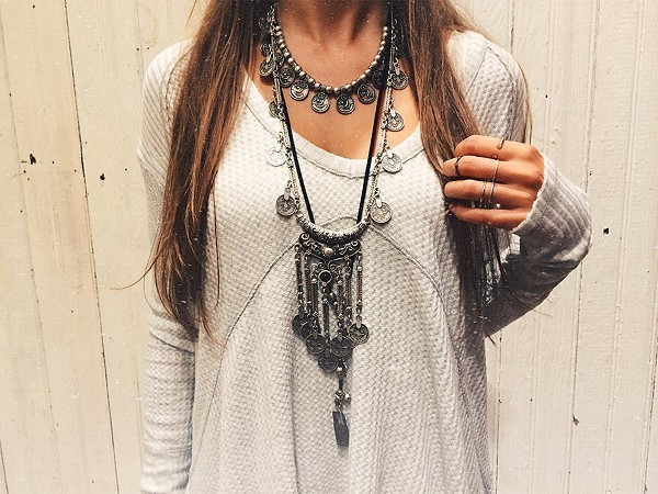 HTB1i0s1JVXXXXcwXFXXq6xXFXXXQ Long Bohemian Antique Silver Coins and Tassels Necklace For Women