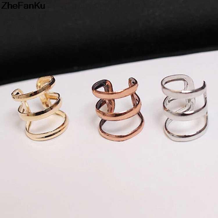 Ear Cuff Clip On Earrings For Women Fashion Girl Hollow U Shape Piercing Earings On Wrap Women Punk Rock Earring Free Shipping