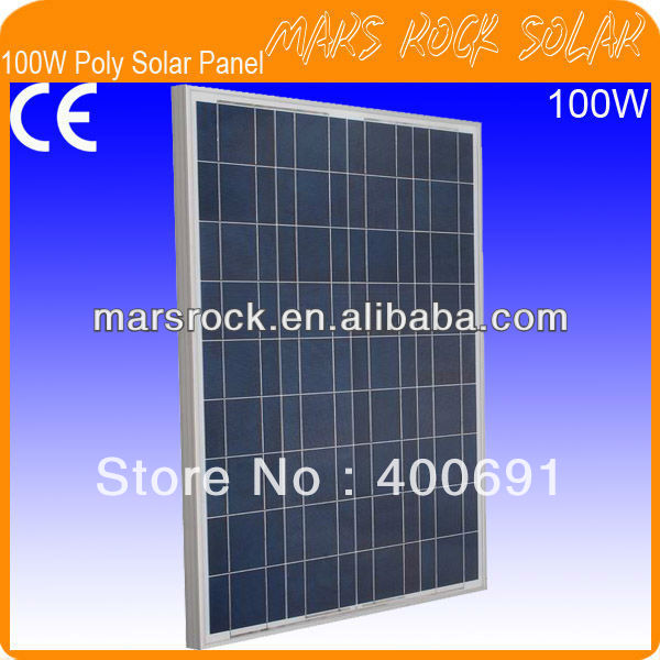 100W 18V Poly Solar Panel Module with CE,MCS,IEC,TUV,ISO,UL,RoHS Approval Standard 70w 18v poly solar panel module with nice appearance long lifecycle 80