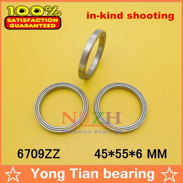 88888 50pcs free shiping The high quality of ultra thin deep groove ball bearings 6709ZZ 45