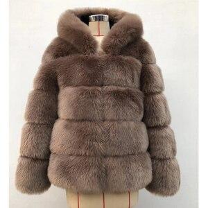 Image 4 - ZADORIN 2020 Winter Thick Warm Faux Fur Coat Women Plus Size Hooded Long Sleeve Faux Fur Jacket Luxury Winter Fur Coats bontjas