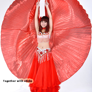 Image 3 - 2019 Hot Selling Popular Women Egyptian Belly Dance Isis Wings Golden Belly Dancing Wing with Telescopic Rod stick on sale