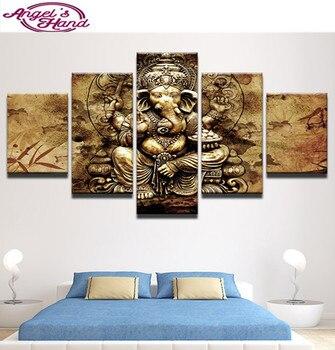 5d diy Diamond Painting India Ganesha Elephant Trunk God round/square Cross Stitch Diamonds Embroidery Painting Rhinestones gift