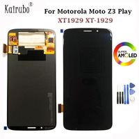 For Motorola Moto Z3 Play XT1929 XT 1929 LCD Touch Digitizer Screen Panel Glass AMOLED AAA Quality Black Color 6.01 + Tools