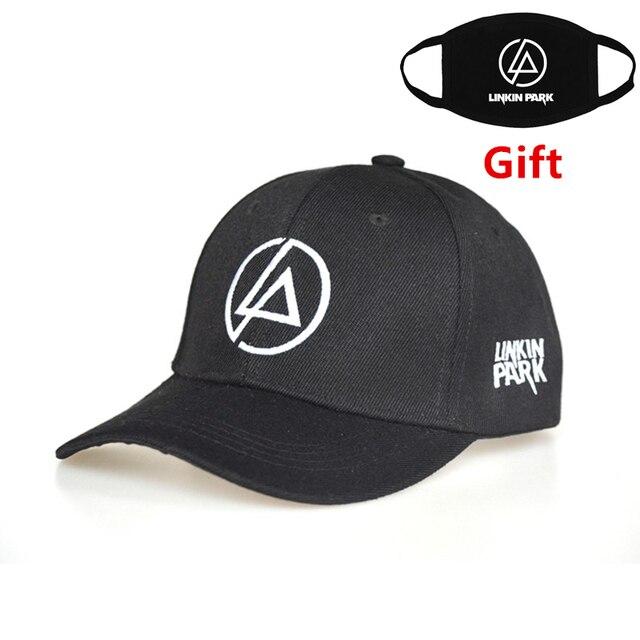 a90a4deb127fd Linkin Park baseball cap adjustable hip hop men women Rapper Bboy DJ dancer  embroidered letter cap