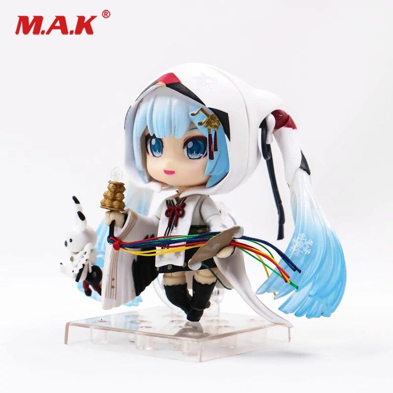 Nouveau 2018 10 CM à collectionner mignon Nendoroid Anime neige Miku Hatsune figurine d'action PVC modèle jouets cadeau pour enfants Collection