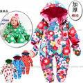 O envio gratuito de Venda nova 2016 outono inverno macacão roupa do bebê recém-nascido bebê menina de algodão grosso macacão de bebê menino macacão