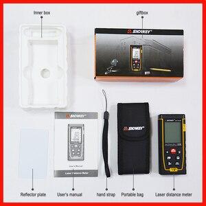 Image 5 - SNDWAY 레이저 거리 측정기 레이저 거리 버블 레벨 전자 테이프 눈금자 광학 기기 파인더 레이저 거리 측정기