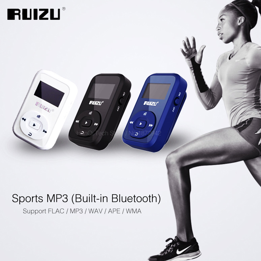 RUIZU X26 Sport Bluetooth MP3 Music Player Recorder FM Radio Support SD Card Clip Bluetooth MP3 Players 8GB Support TF Card