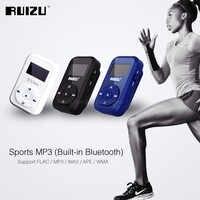RUIZU X26 del deporte Bluetooth MP3 reproductor de música grabadora FM Radio compatible con tarjeta SD Clip Bluetooth MP3 jugadores 8GB tarjeta TF de soporte