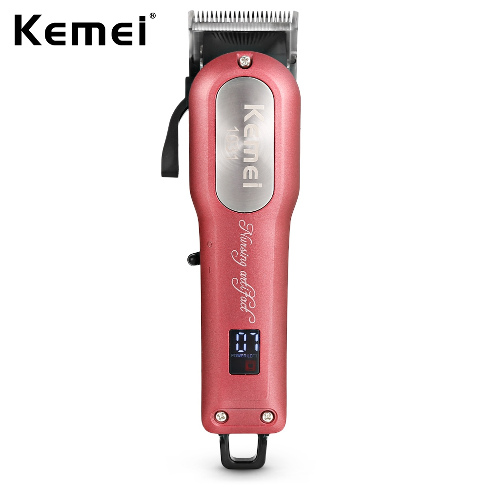 kemei KM-1031 Professional Hair Clipper Design for Salon Rechargeable Electric Hair Trimmer Powerful Beard Razor kemei professional hair clipper household salon use adjustable rechargeable electric hair trimmer for pets and kids with combs