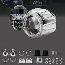 Aktualisierung 2017 SANVI FÜHRTE Projektor Objektiv Scheinwerfer mit Wanten Engel Auge 35 Watt 6000 Karat 3 Zoll Led-leuchten für auto