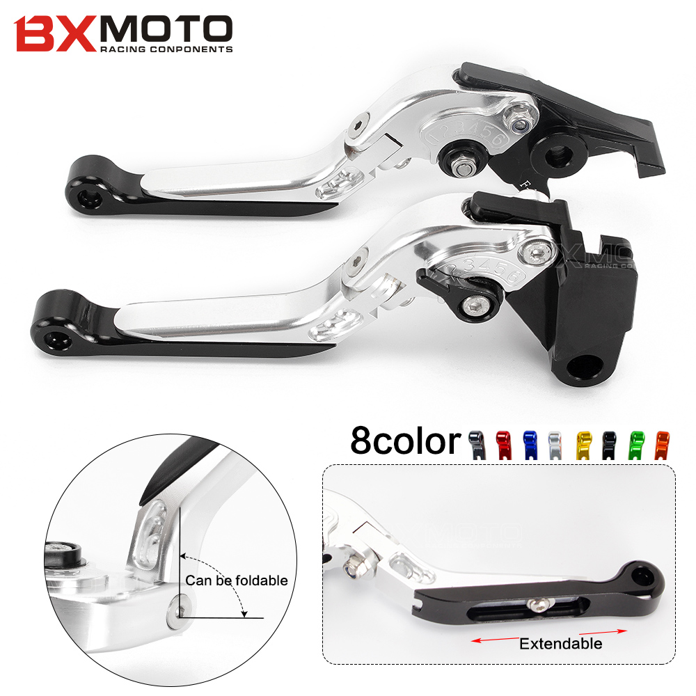 ФОТО For Aprilia TUONO V4R 2011~2015 New Motorcycle parts CNC Aluminum Silver Foldable Extendable Clutch Brake Levers sets