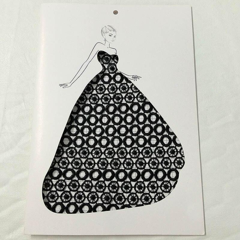 5yar/lot ruban noir cercle dentelle tissu brodé dentelle robe tissu vêtements couture robe fête décor couture bricolage Patchwork DHL