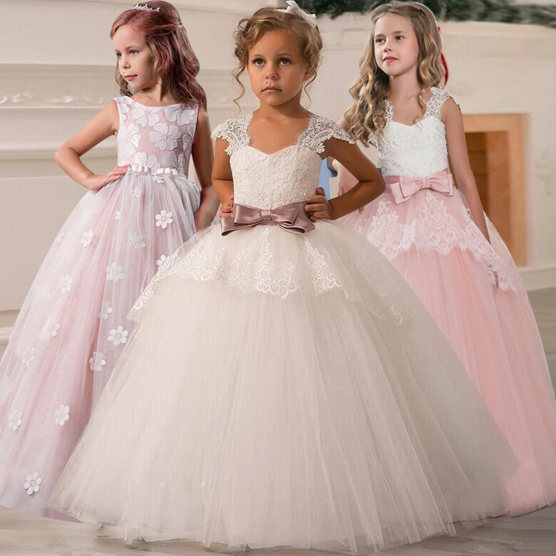Flower     Girl   Wedding Party Bridesmaid Ball Performance   Dress   Boy   Girl   Eucharist Party First White Petal   Dress   vestidos