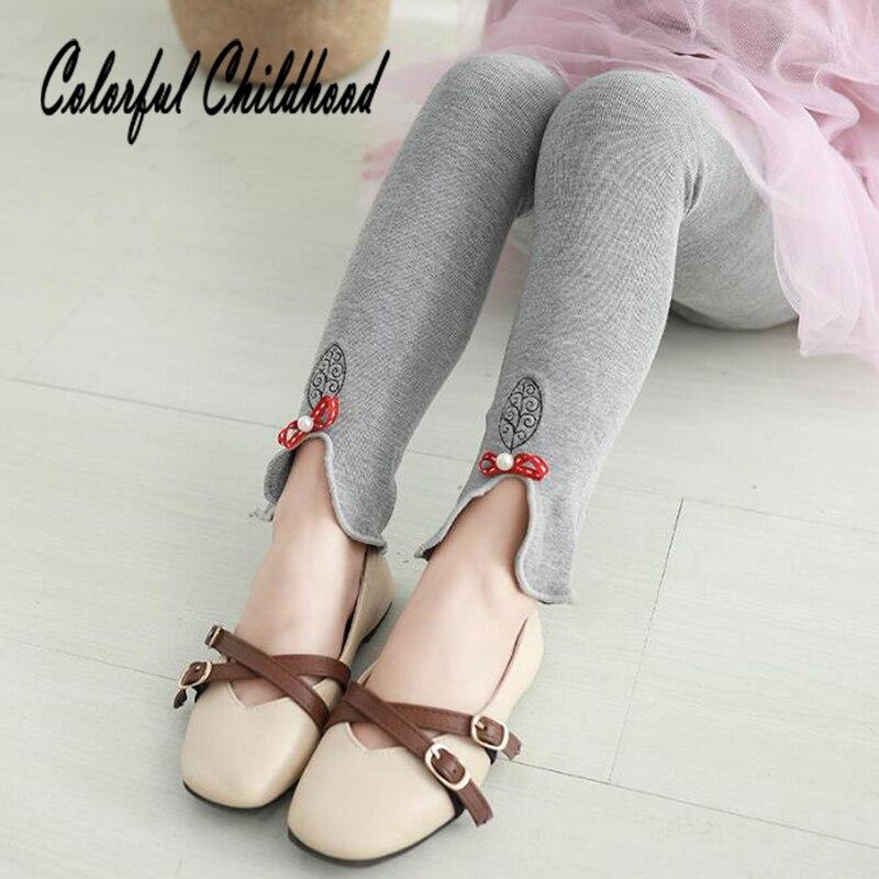 1-9yrs Große Mädchen Hosen Gemütlich Baumwolle Elastics Taille Kinder Leggings Kleinkind Mädchen Hosen Kinder Hosen