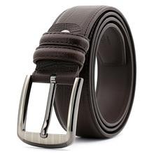 New 2017 men leather belt luxury designer belts mens cowskin Strap male fashion vintage pin buckle for jeans Cinturones Hombre