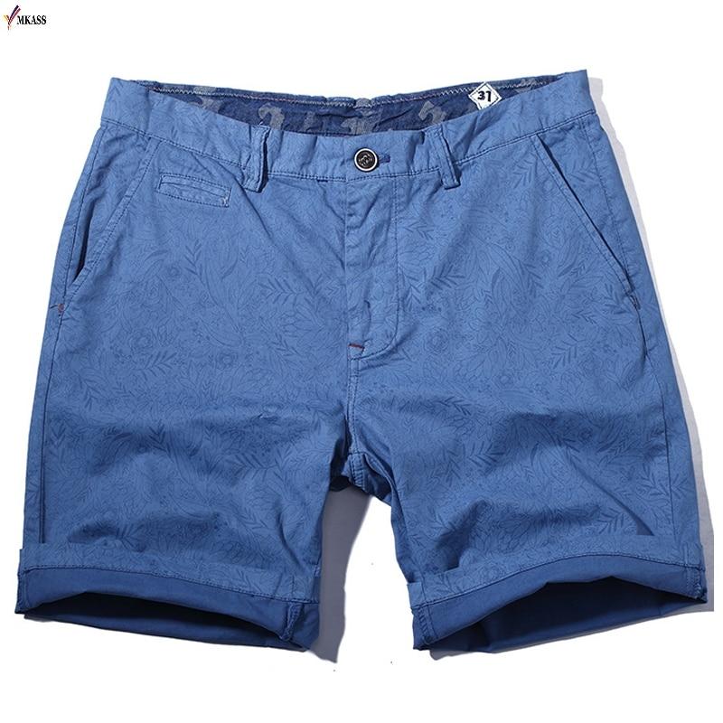 Hot 2019 Casual Summer Easy Shorts Men Cotton Decorative Pattern Shorts Vintage Casual Men Shorts Bermuda Masculina