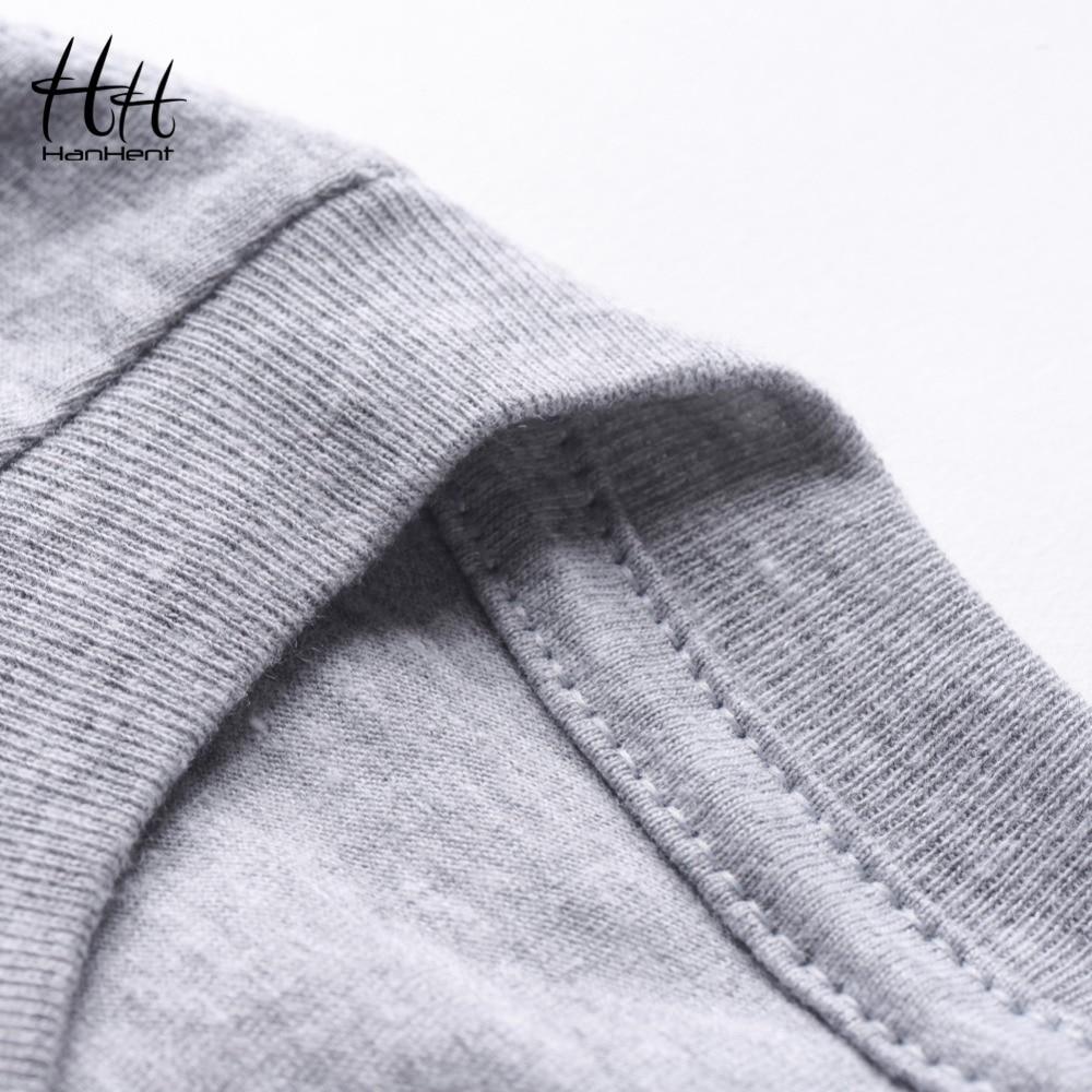 HanHent Yeni Moda Tees Crossfit Kafatası T Shirt Erkekler Spor - Erkek Giyim - Fotoğraf 6