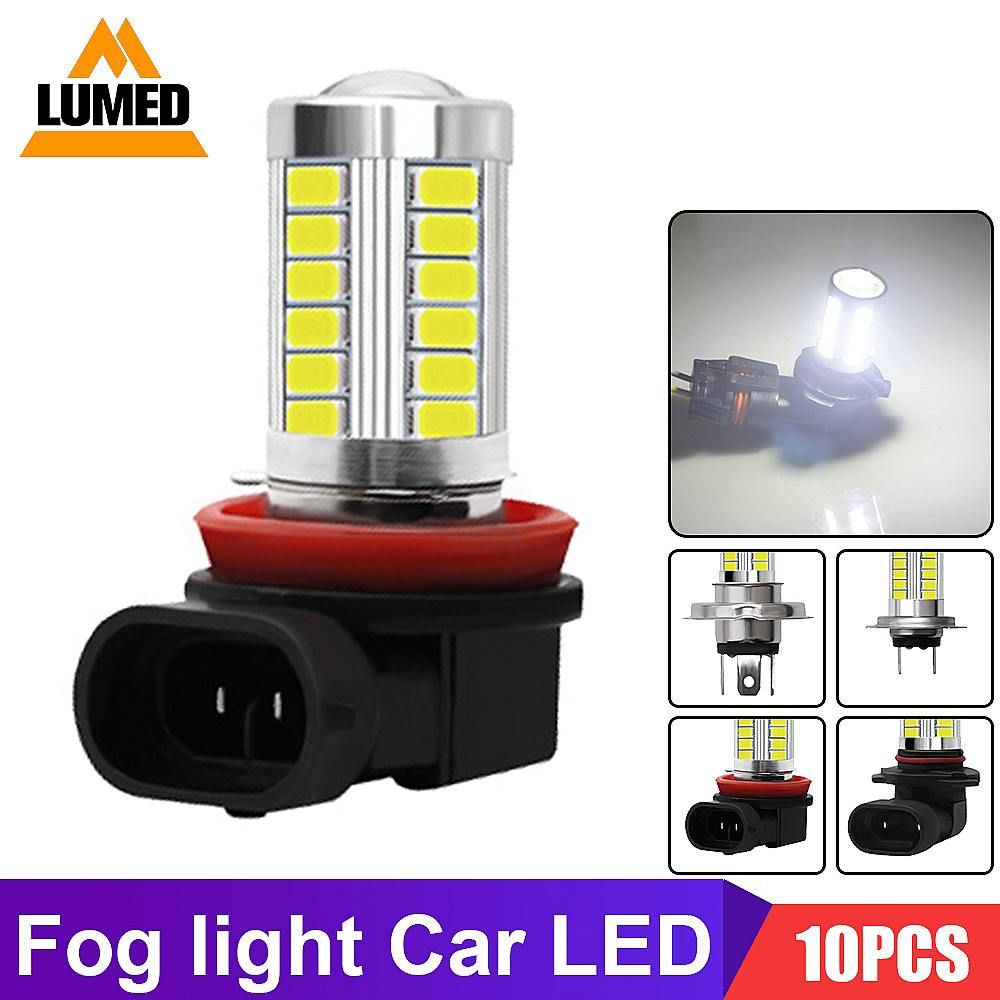 10x H8 H11 LED H4 H7 HB4 9006 HB3 9005 Fog Lights Bulb 5630 SMD Car Driving Running Lamp Auto Leds Light 6000K White 12V