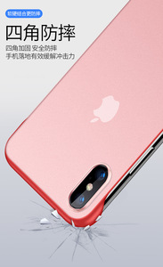 Image 5 - New Fashion phone case PC Cover for iphone XS Max XR Frameless Transparent Matte Hard  Case for iphone 6 7 8 Plus Finger Ring