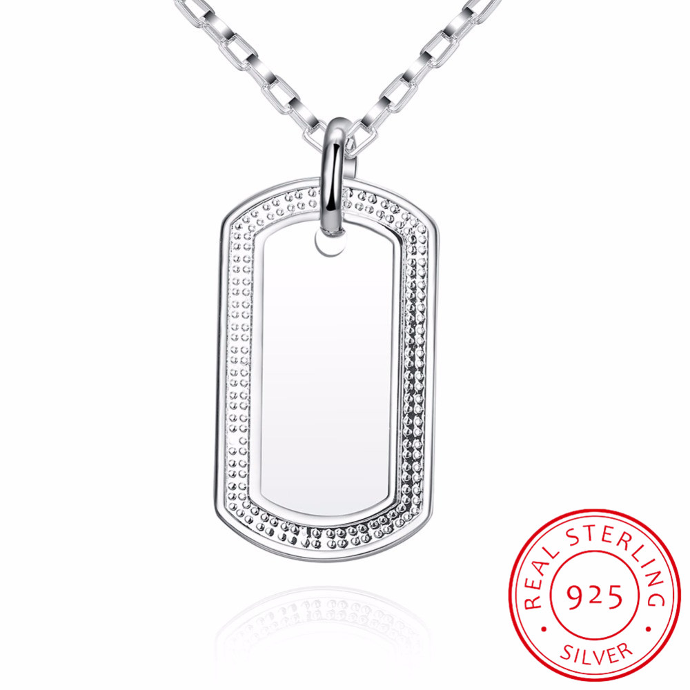 Inalis mens protection define id necklaces pendants 925 sterling inalis mens protection define id necklaces pendants 925 sterling silver army dog tag necklace fine jewelry colar de prata in necklaces from jewelry aloadofball Image collections