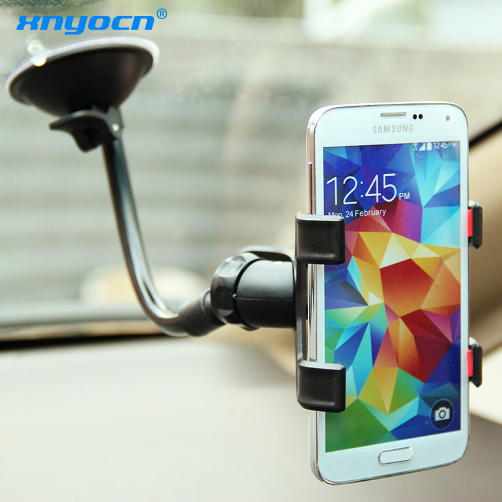 Universal Car Phone Holder for Iphone 7 Plus SE Glass Sticky Car Holder Stand Support Rotatable Bracket for Samsung GPS Holder