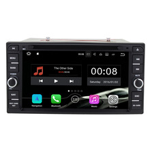 Android 7.1.1 Universal 2GB RAM 16GB ROM Quad Core Car DVD Multimedia Player BT for Toyota Corolla/Vitz/Echo/VIOS/HILUX/PRADO