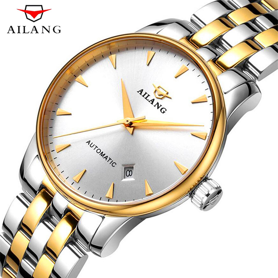 relogio masculino Mens Watches Top Brand Luxury Business Automatic Mechanical Watch Men Casual Stainless Steel Waterproof Watch forsining fashion brand men simple casual automatic mechanical watches mens leather band creative wristwatches relogio masculino