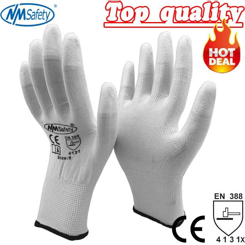Пальчаткі Guantes Trabajo 2020 Nmsafety Антыстатычныя пальчаткі Pu Static Antique Static Electronic Industrial Esd Пальчаткі