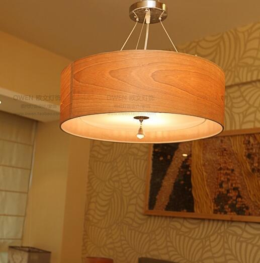 Solid Wooden Natural potassium Ambrose Nordic Wind idyllic bedroom den living room pendant light wood grain creative MZ27
