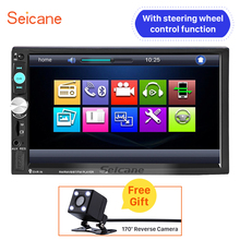 Seicane Radio Universal MP5 Player Bluetooth Music Remote Control USB TF Card AUX WSC HD TV Head unit with Rearview camera free