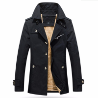 5XL New Men Jacket Autumn Winter Jacket Men High Quality Thicker Trench Coat Cotton Men Coats